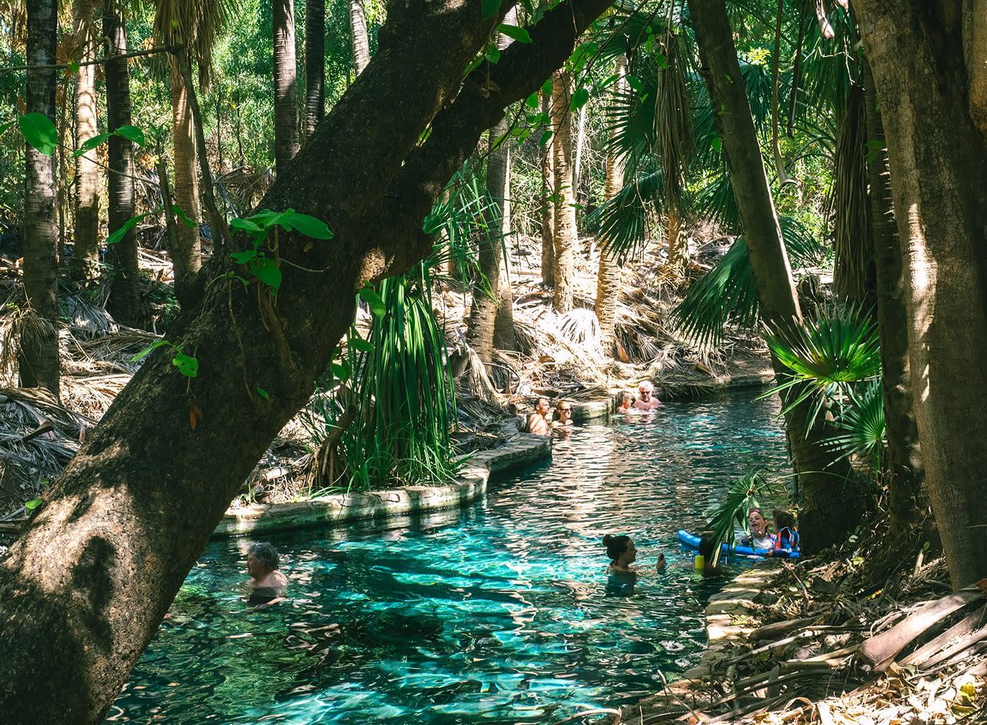 NT Australia - Mataranka - Elsey National Park swimming area