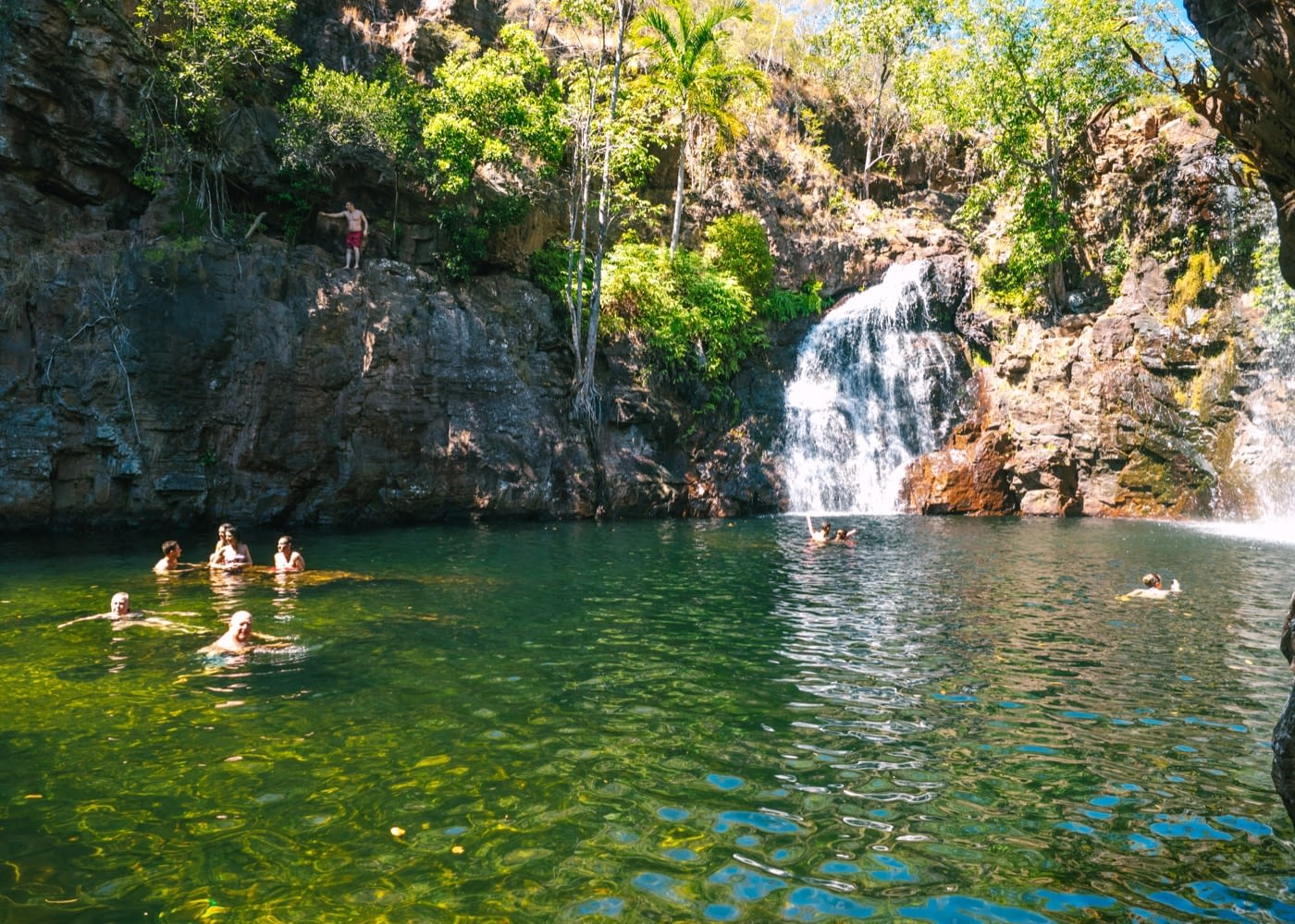 Litchfield National Park - Visitors taking a dip in Florence falls