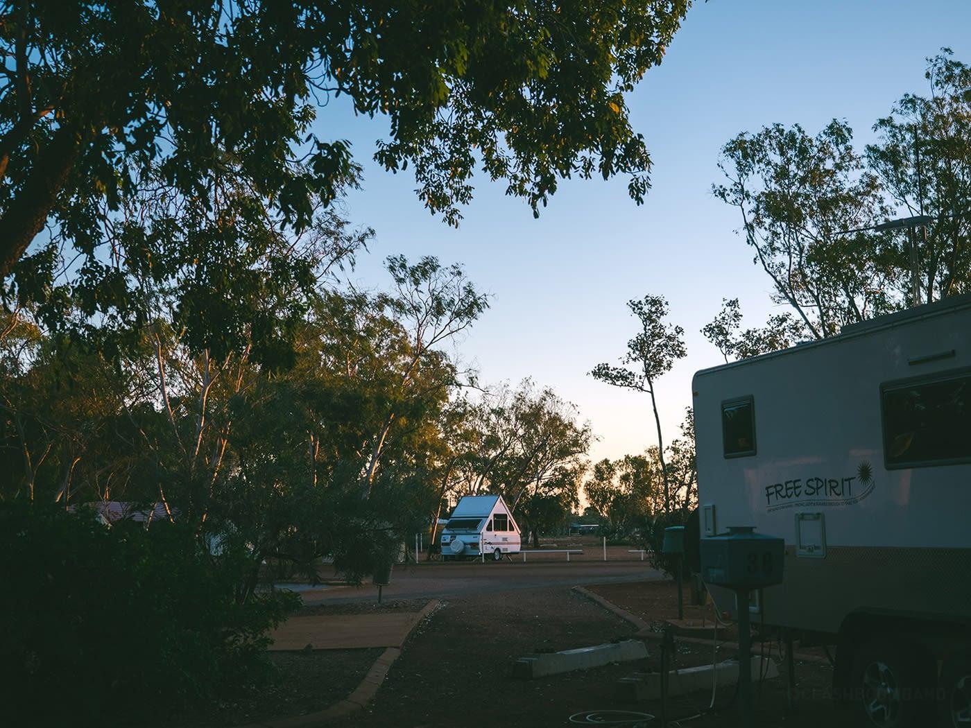 NT Australia - Tennant Creek - Triangle campervan