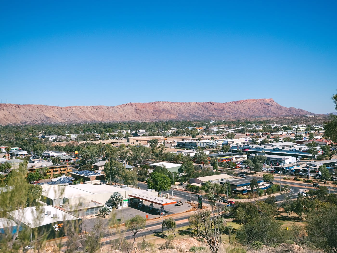 NT Australia - Alice Springs - Anzac Hill in the day view 2