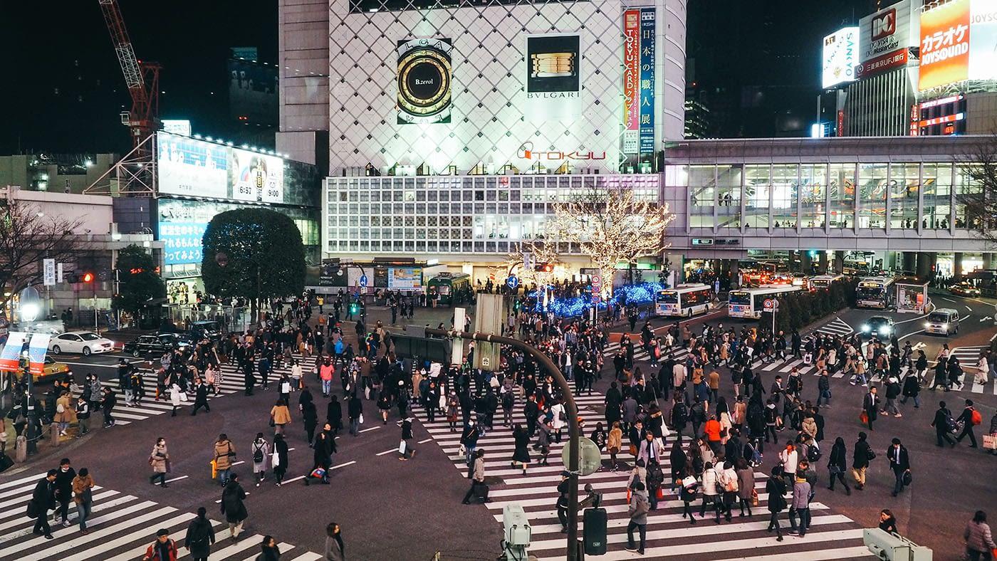 Japan - Shibuya - Complicated crossing