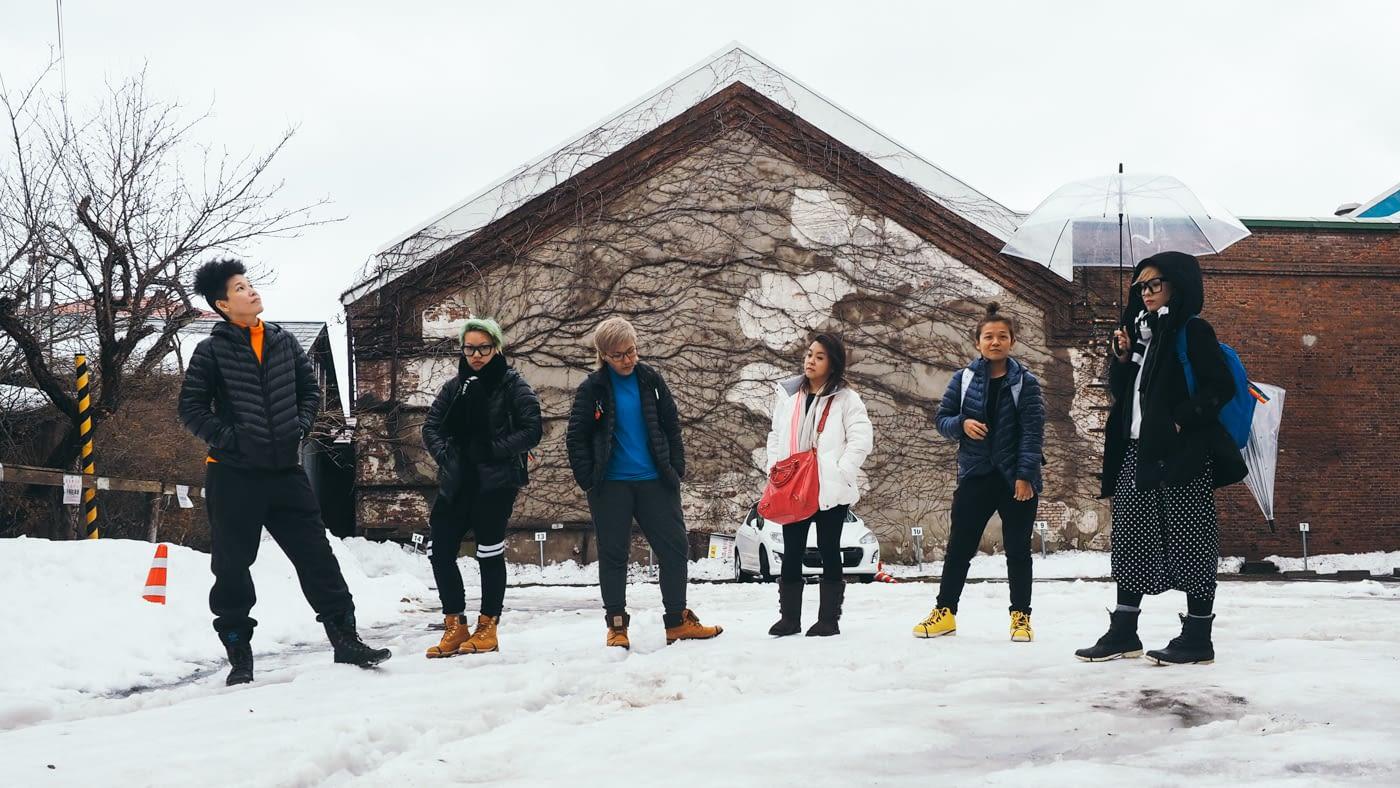 Japan - Hakodate - A snowy group shot