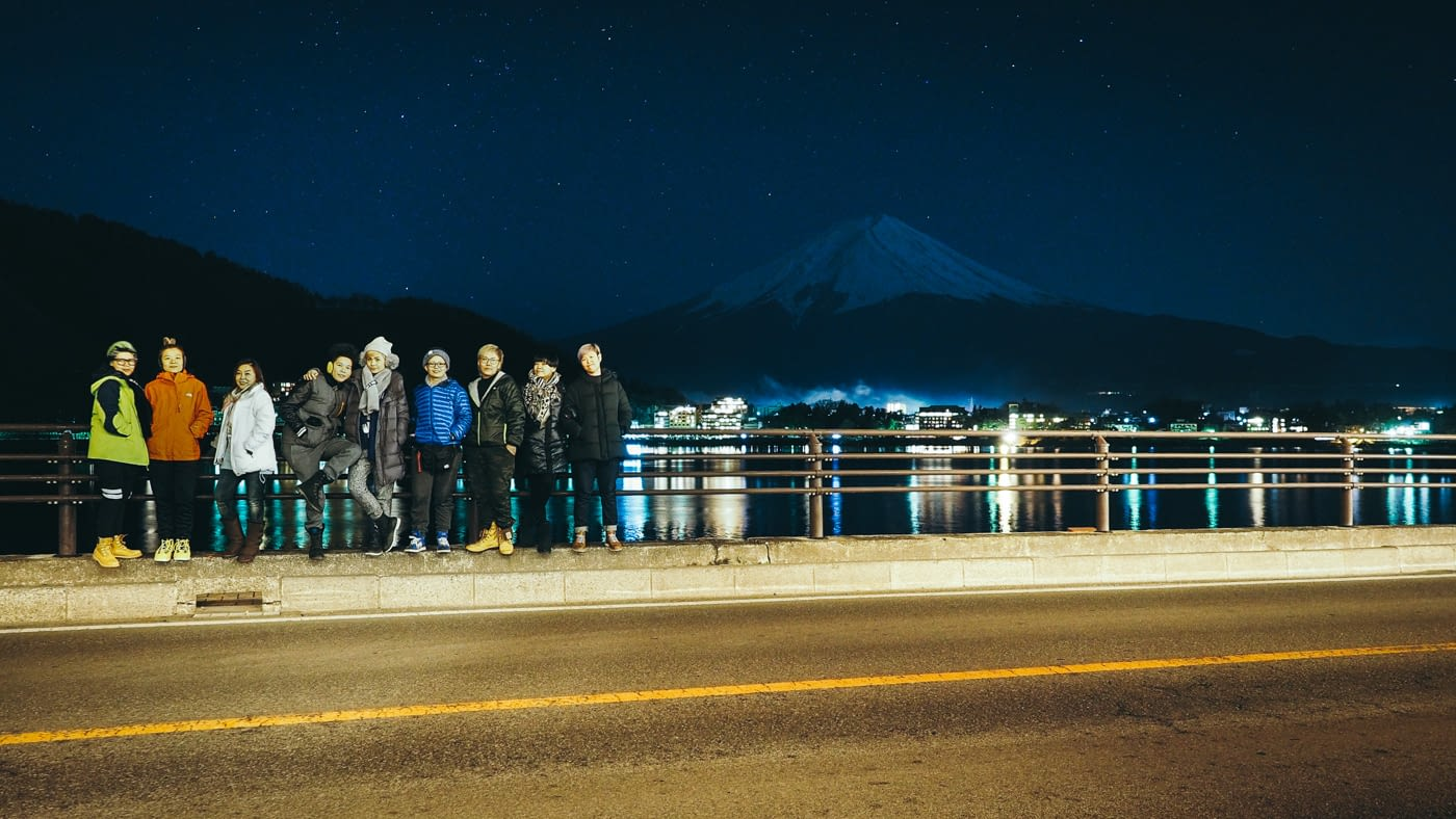 Japan - Mount Fuji - Group shot at Kozanteiubuya Ubuya