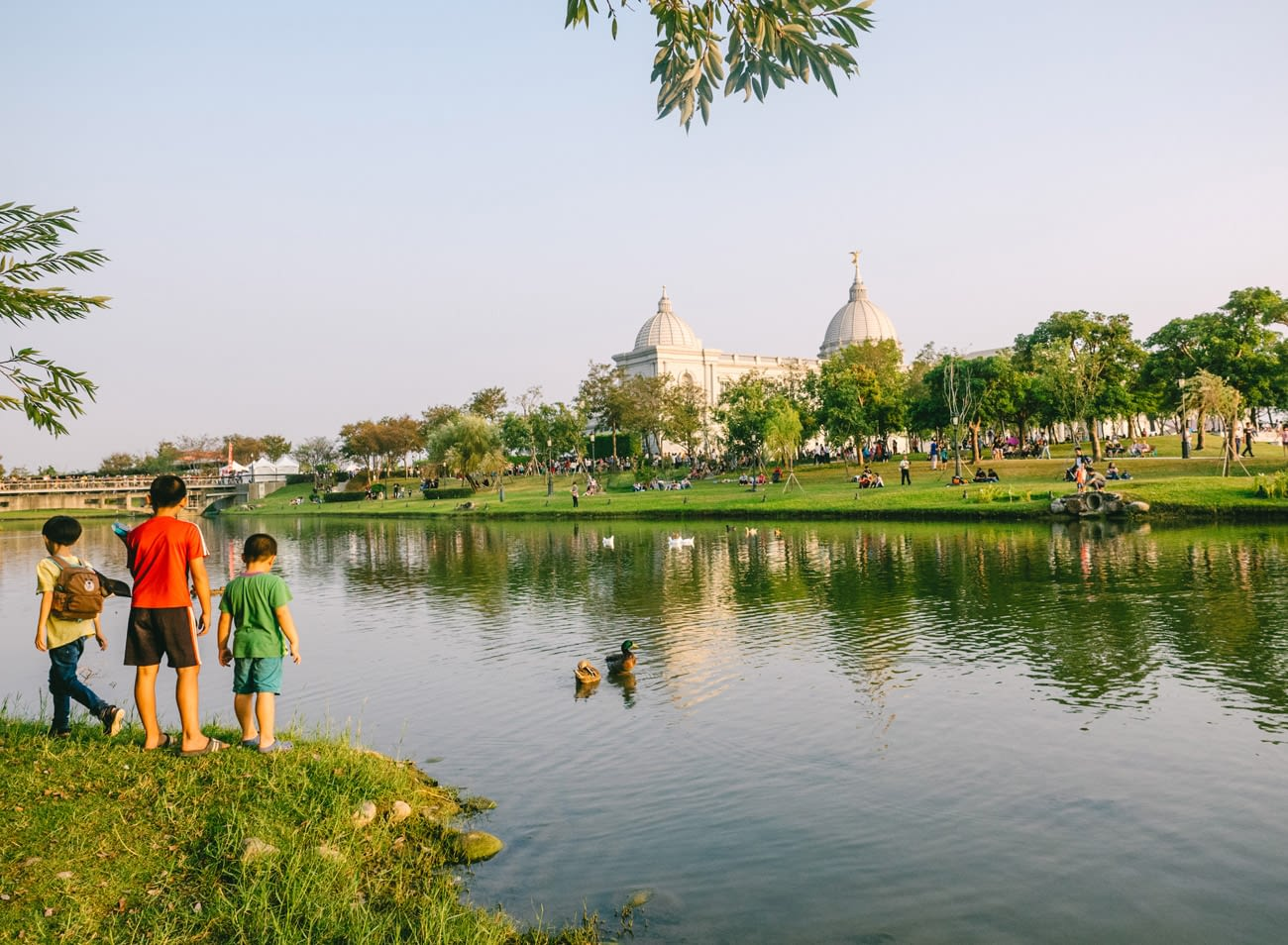 Tainan - Pokemon Go Safari Event - View of the Chimei museum from the lake