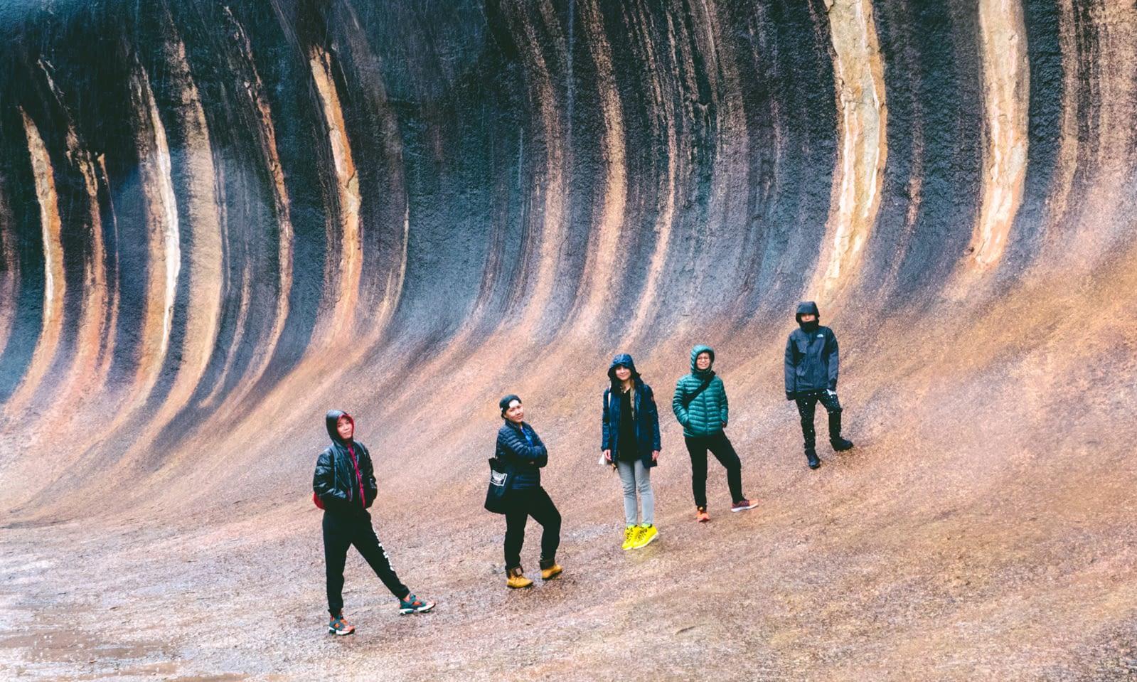 Perth - Wave Rock - Group shot 1