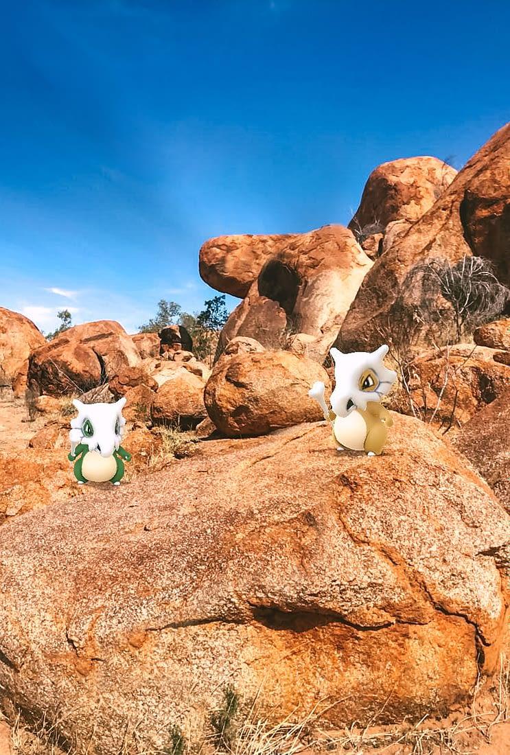 NT Australia - Karlu Karlu - Shiny & non-shiny Cubone