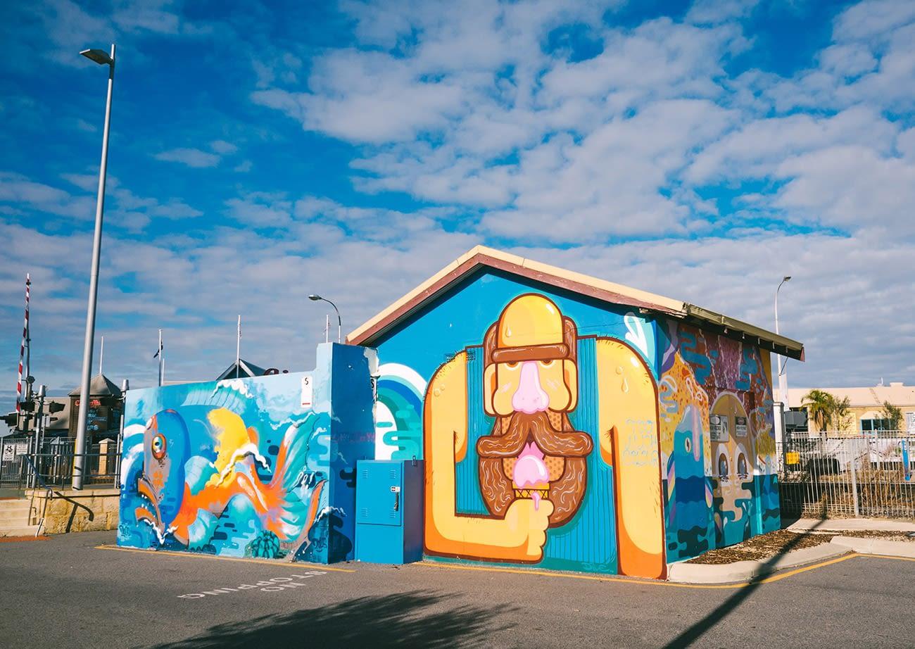 Australia - Perth - Graffiti ice cream man