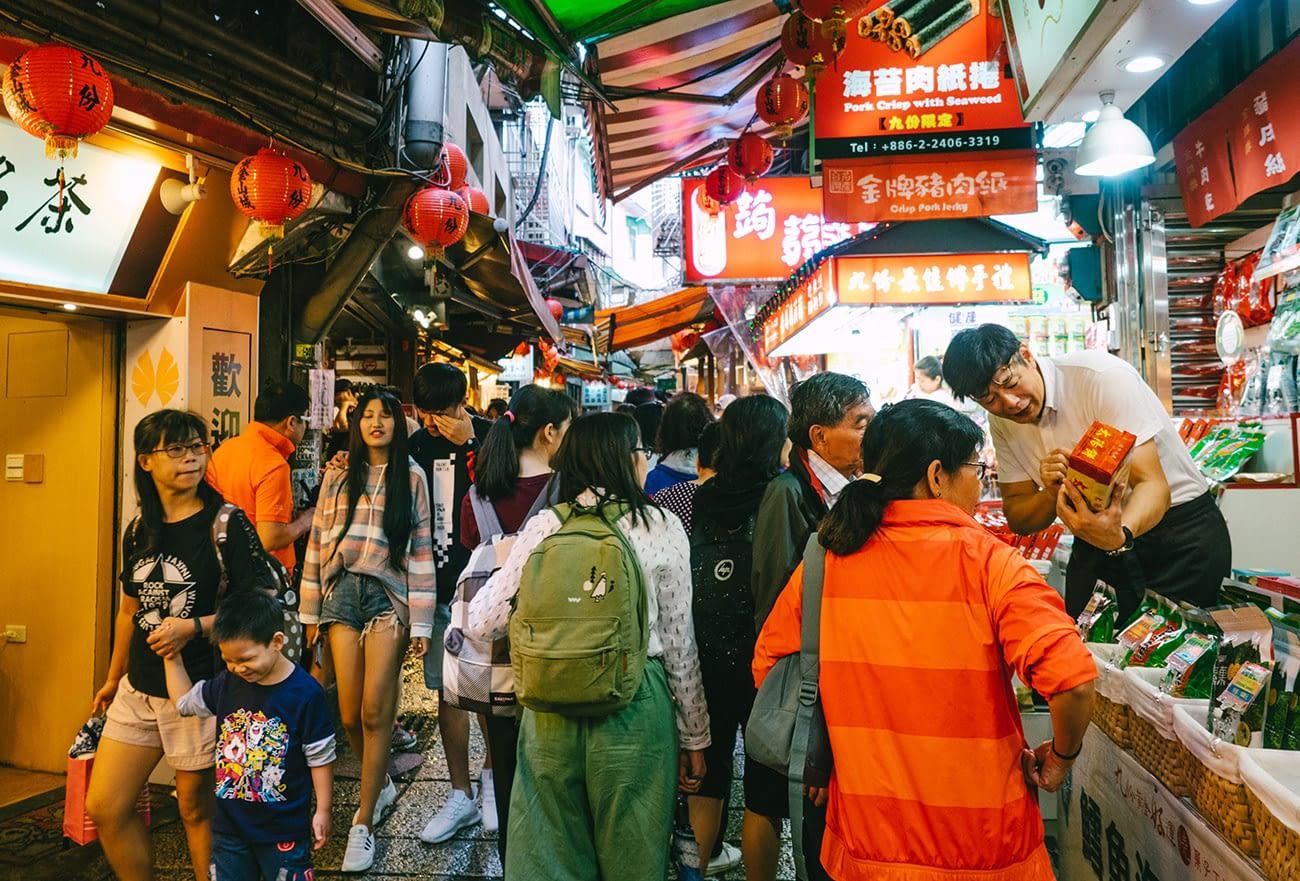 Taipei Jiufen - Food stalls