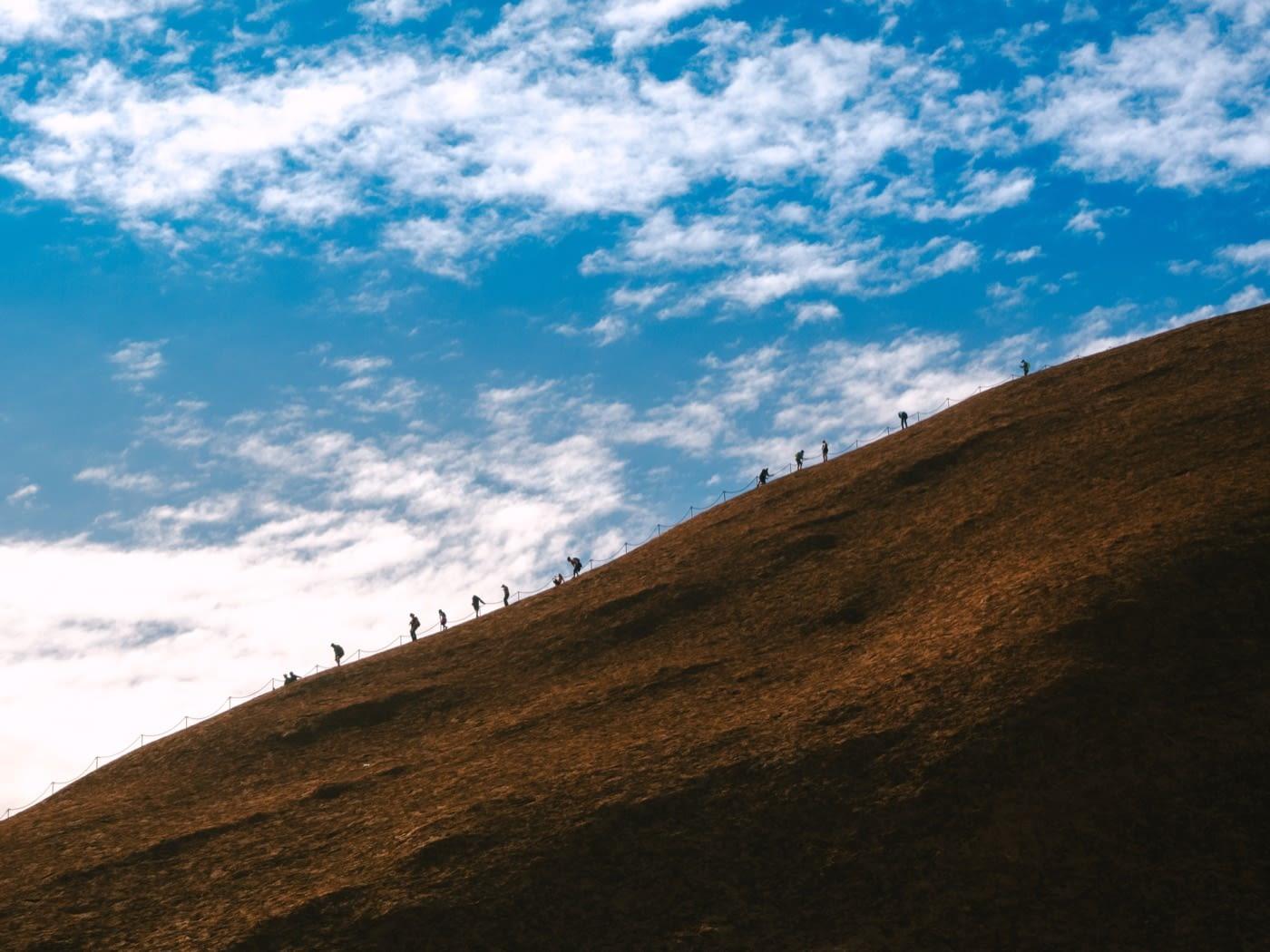 NT Australia - More tourist climbing Uluru