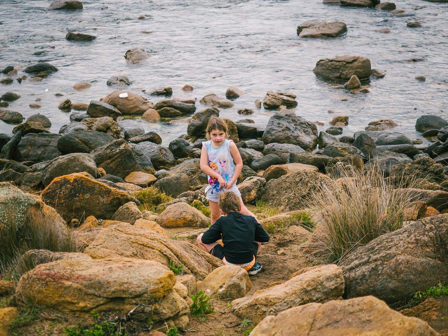 Perth, Australia - Yallingup beach - Kids playing
