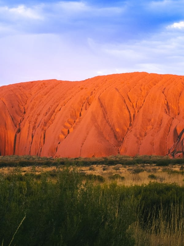 NT Australia - Up close view of Uluru