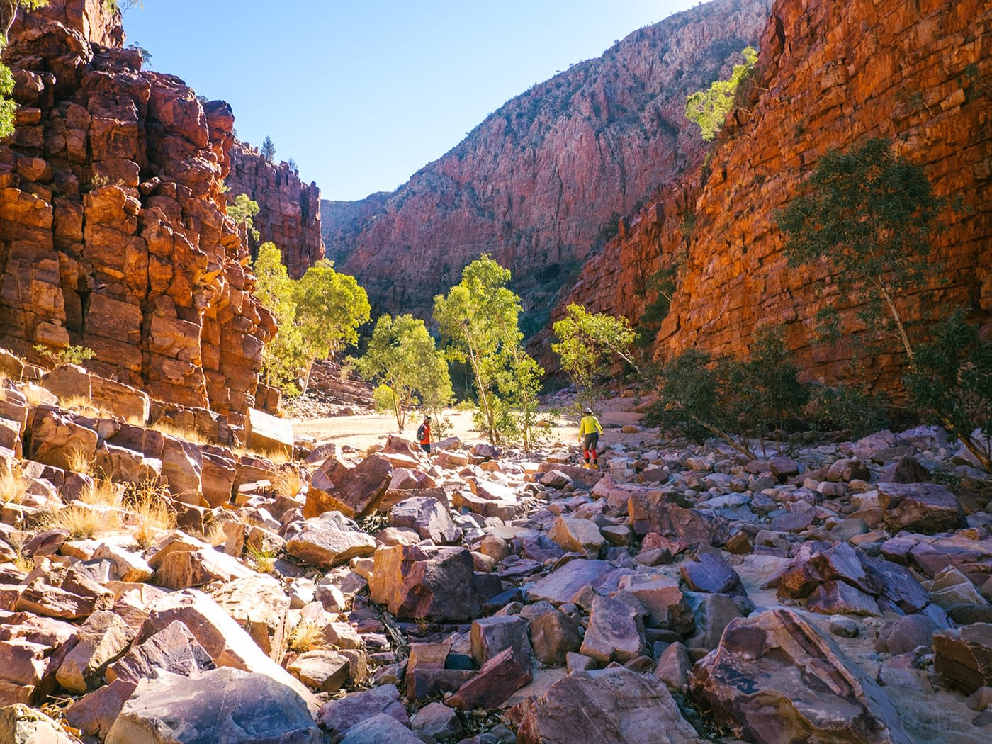 The climb is real... at Ormiston Gorge