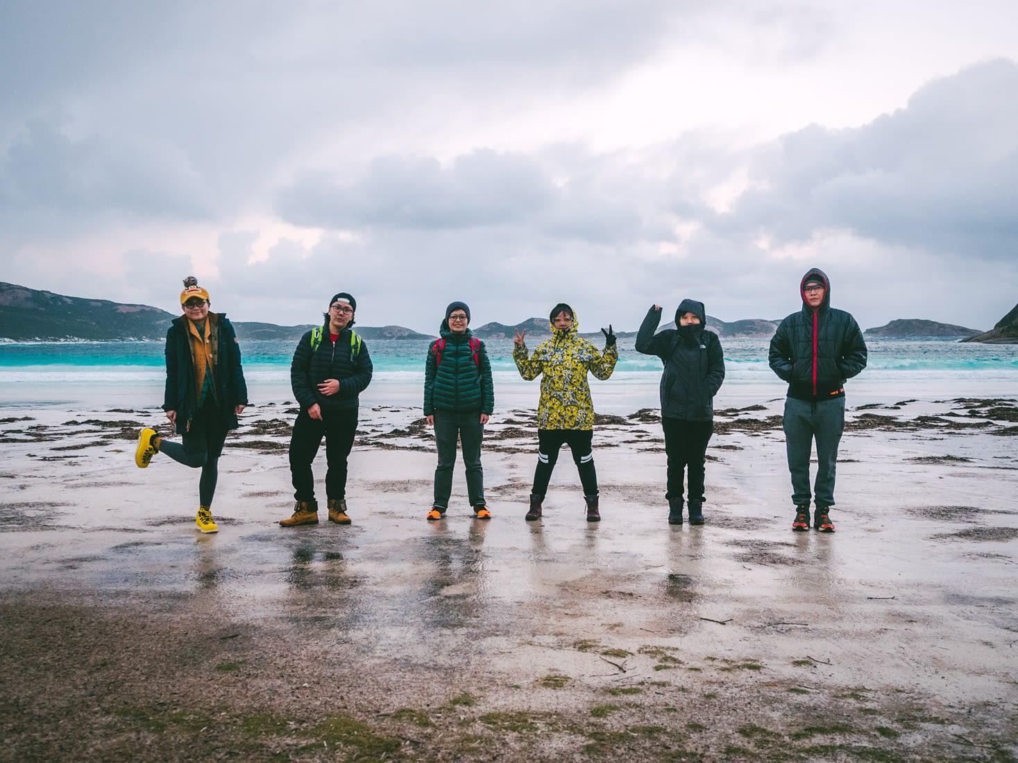 Perth - Esperance - Group shot at Lucky Bay
