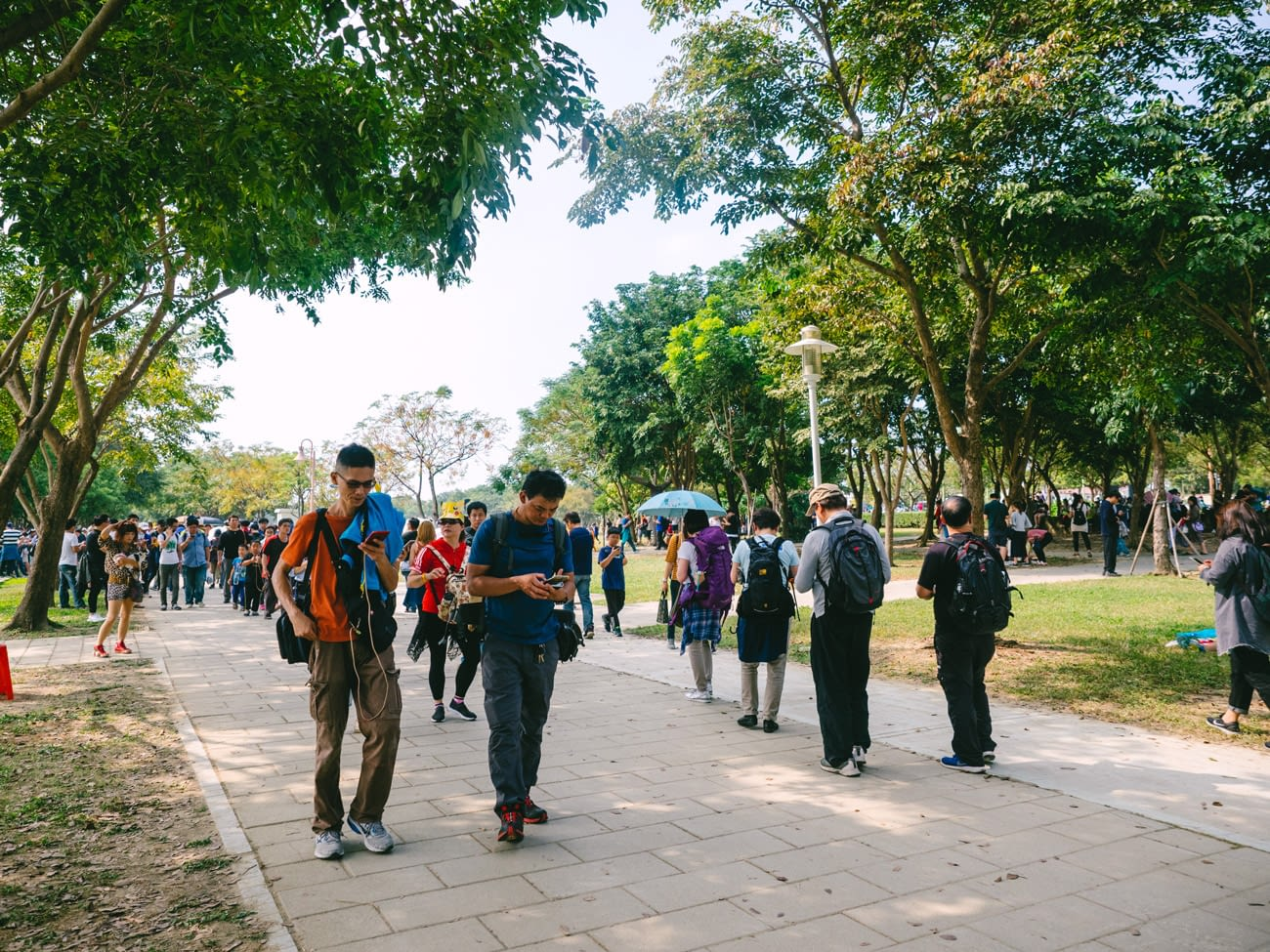 Tainan - Pokemon Go Safari Event - Players engrossed in catching