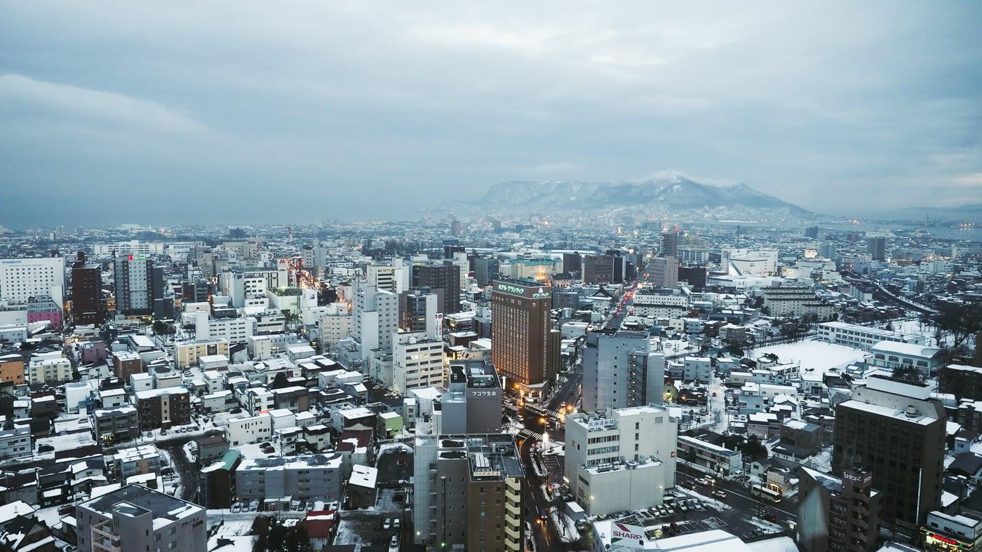 The view from Goryokaku Tower
