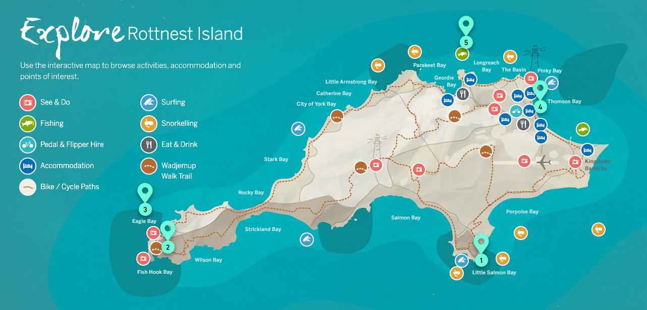 Australia - Rottnest Island Map