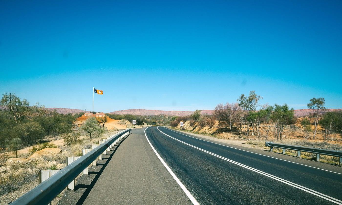 NT Australia - Alice Springs - Entrance to Slice Springs