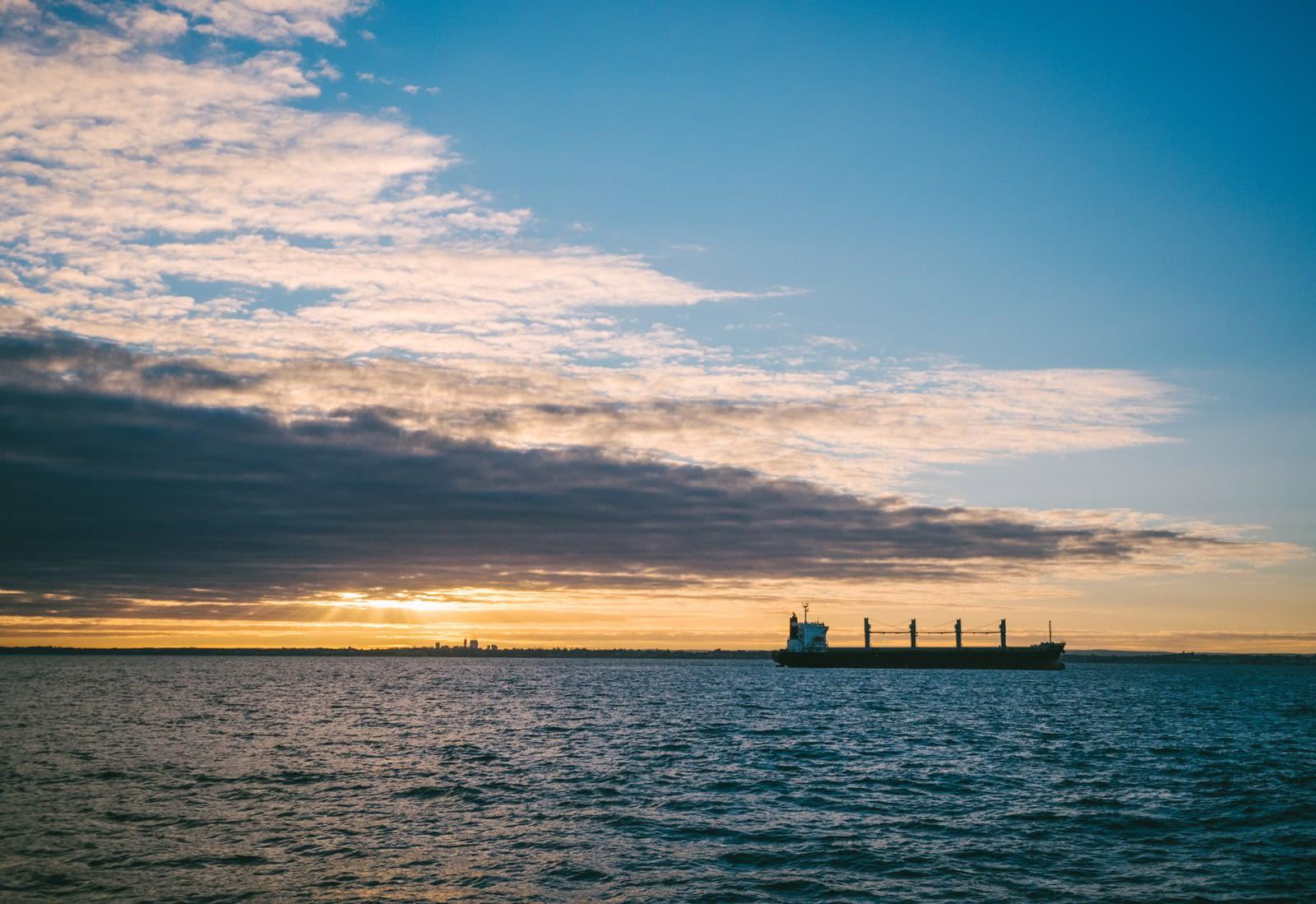 Perth, Australia - Sunrise on the ferry