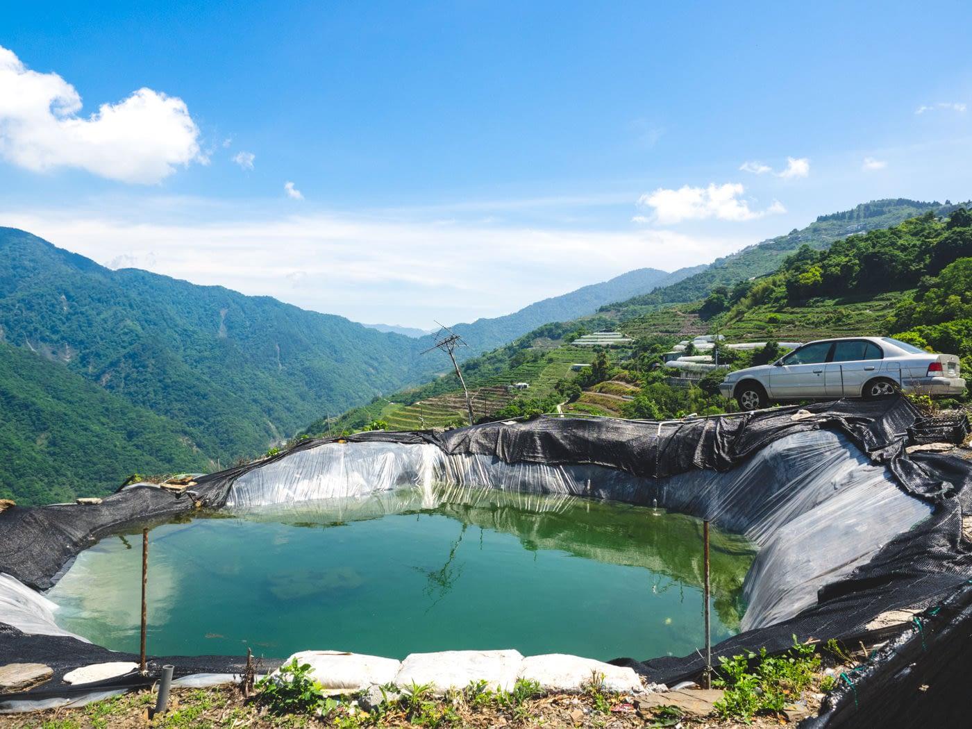 Taiwan - Qingjing - Random puddle of water