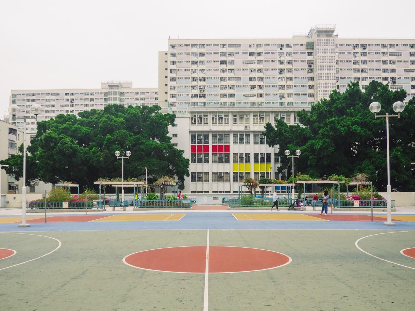 Hong Kong - Rainbow Estate - Basketball court