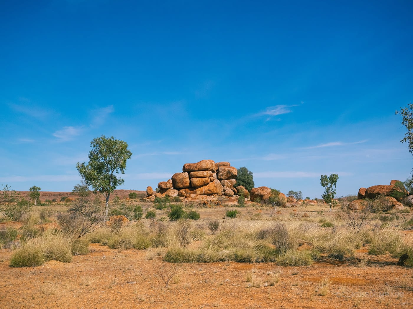NT Australia - Karlu Karlu - Neatly stacked boulders