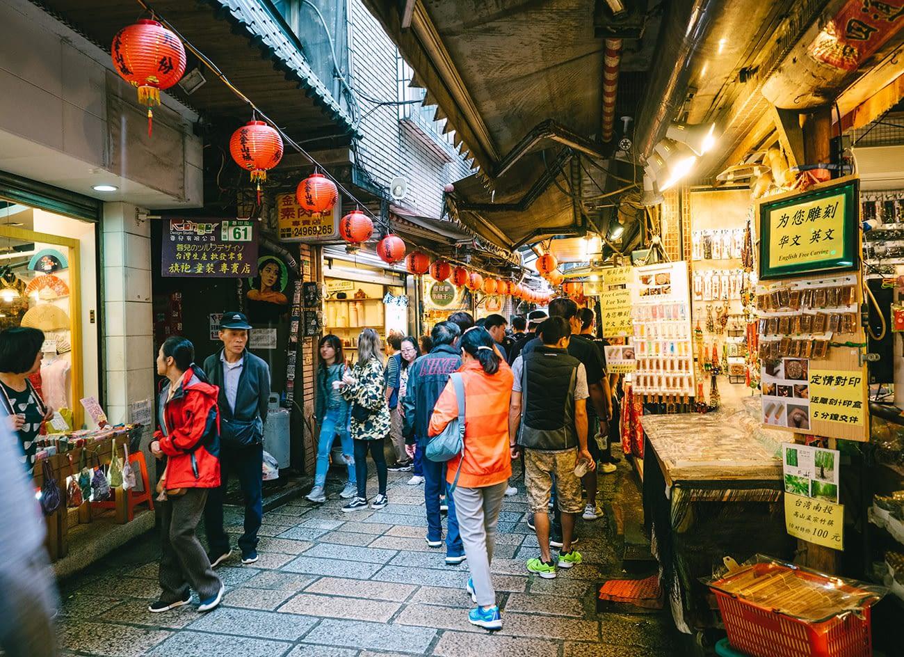 Taipei Jiufen - Narrow street
