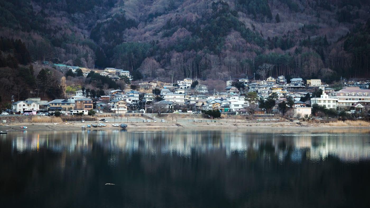 Japan - Mount Fuji - Village view up close