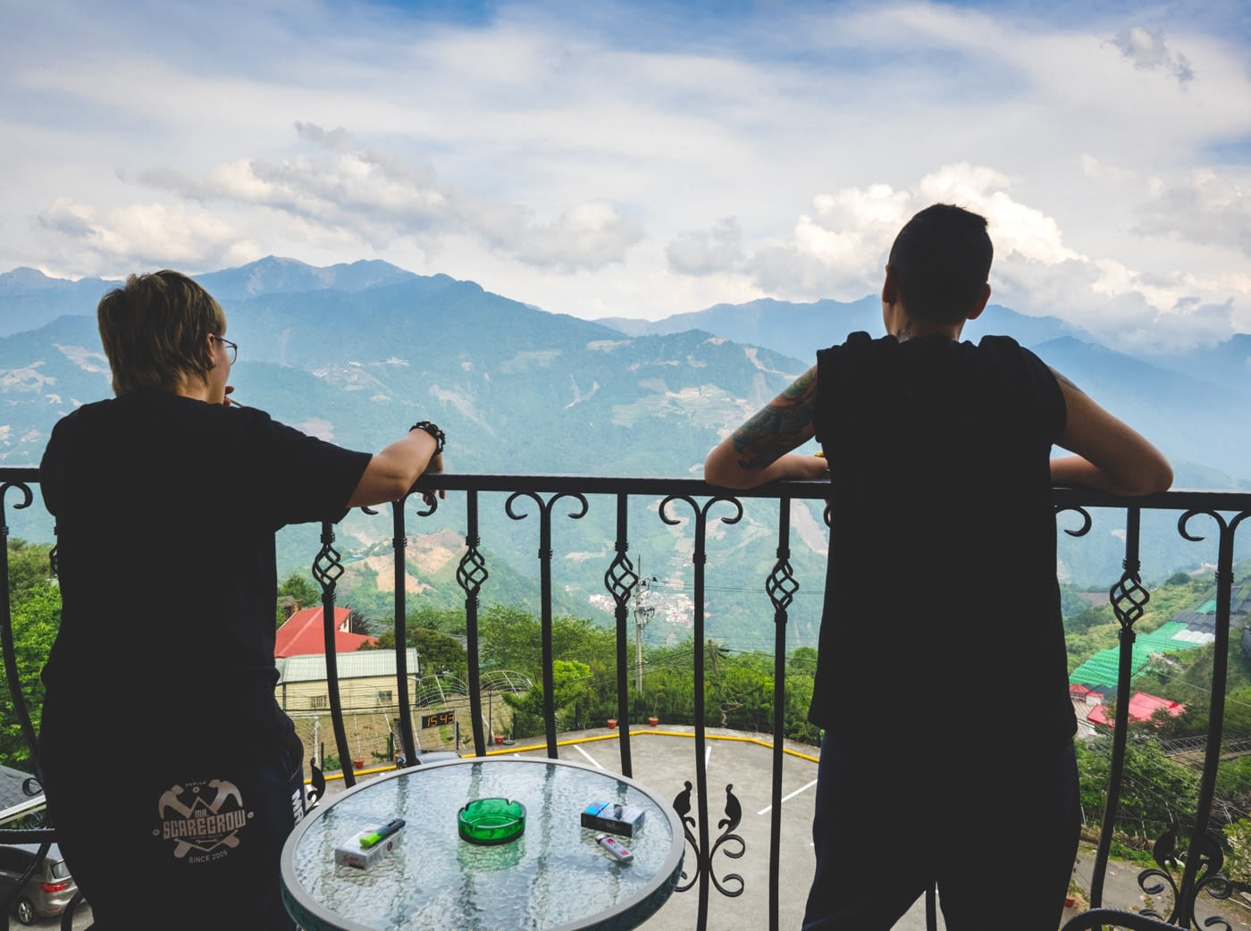 Taiwan - Qingjing - Balcony with a nice view