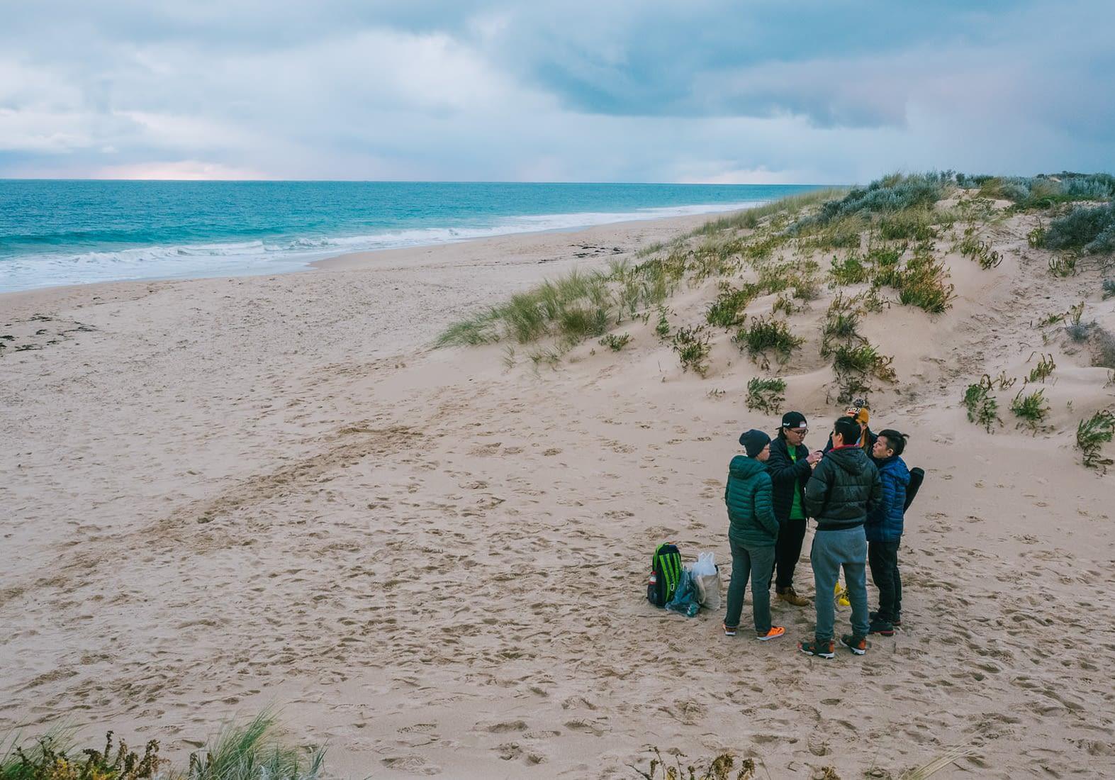 Perth, Australia - Eating at Preston beach