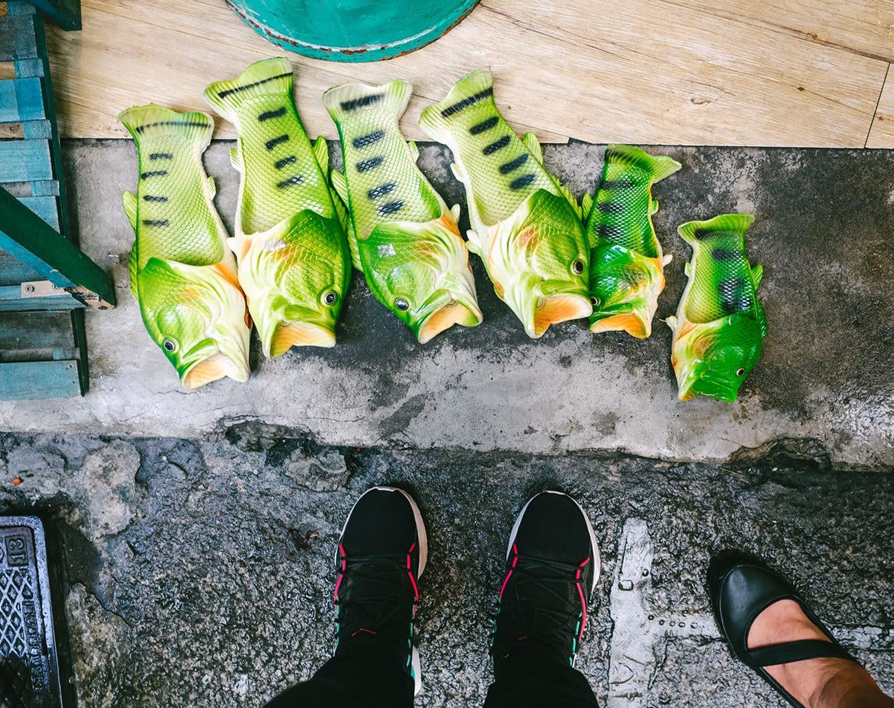 Taipei Jiufen - Fish slippers