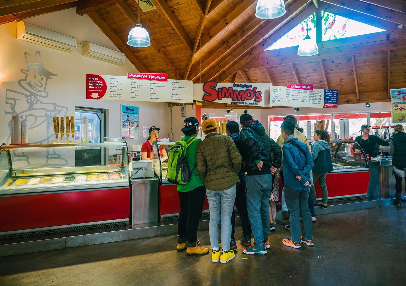 Perth, Australia - Simmo's ice cream shop