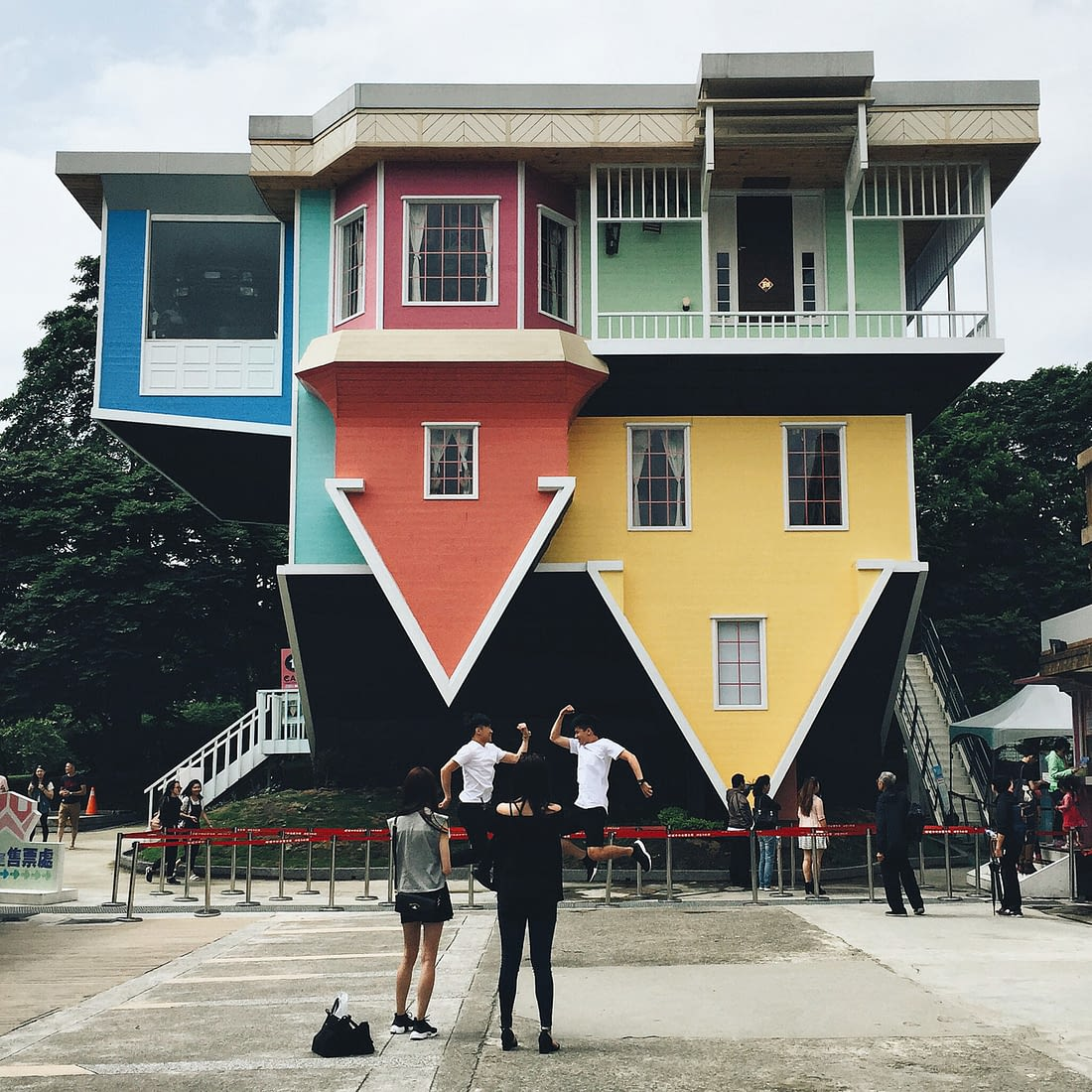 Taiwan - Huashan 1914 Creative Park - Upside down house