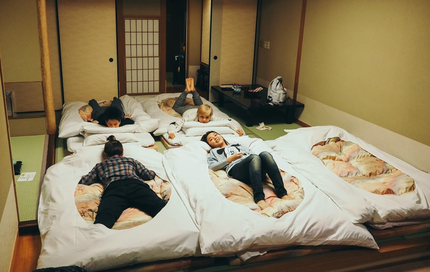 Japan - Mount Fuji - Kozanteiubuya Ubuya Hotel tatami beds