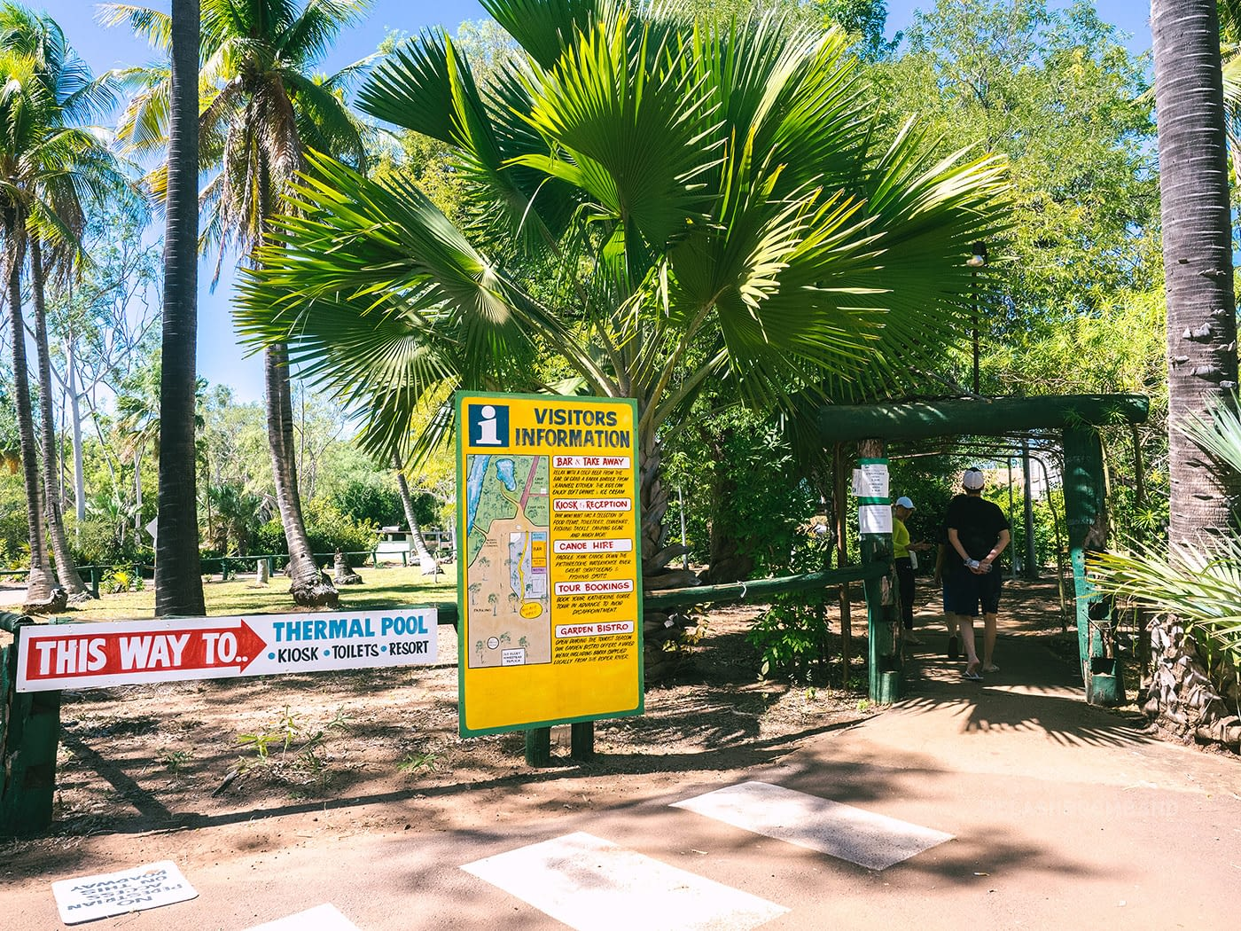 NT Australia - Mataranka - Elsey National Park entrance