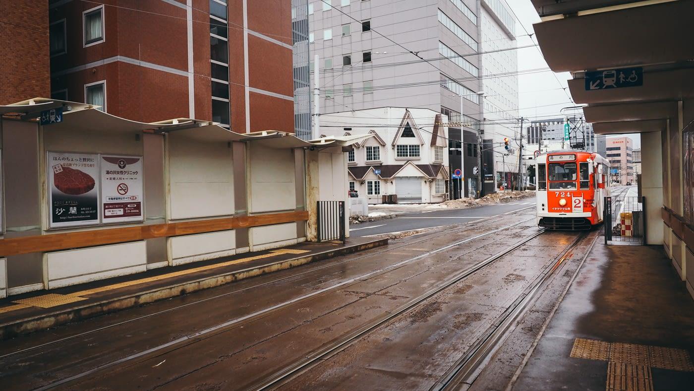 Retro looking trams