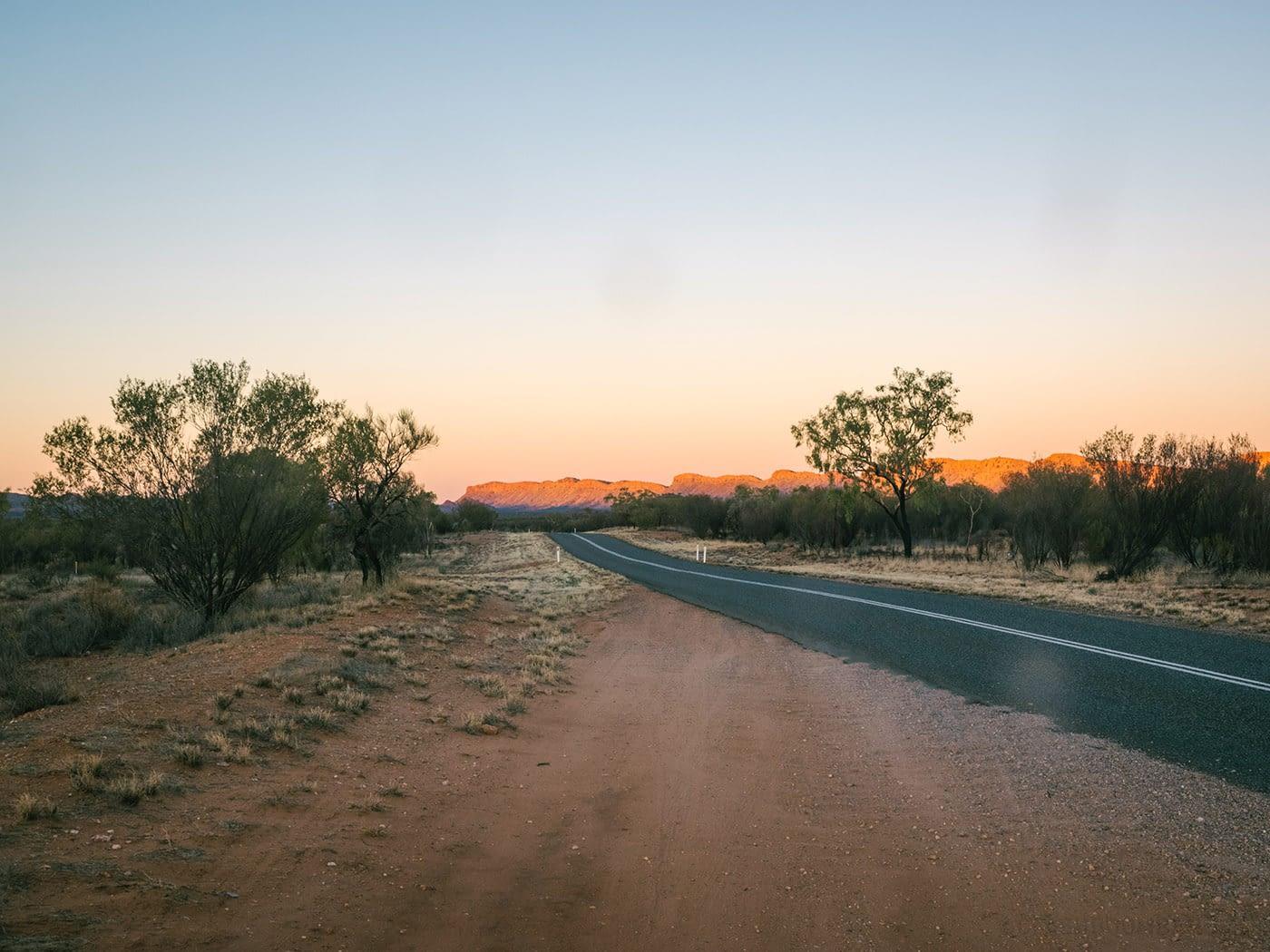Driving to the Uluru