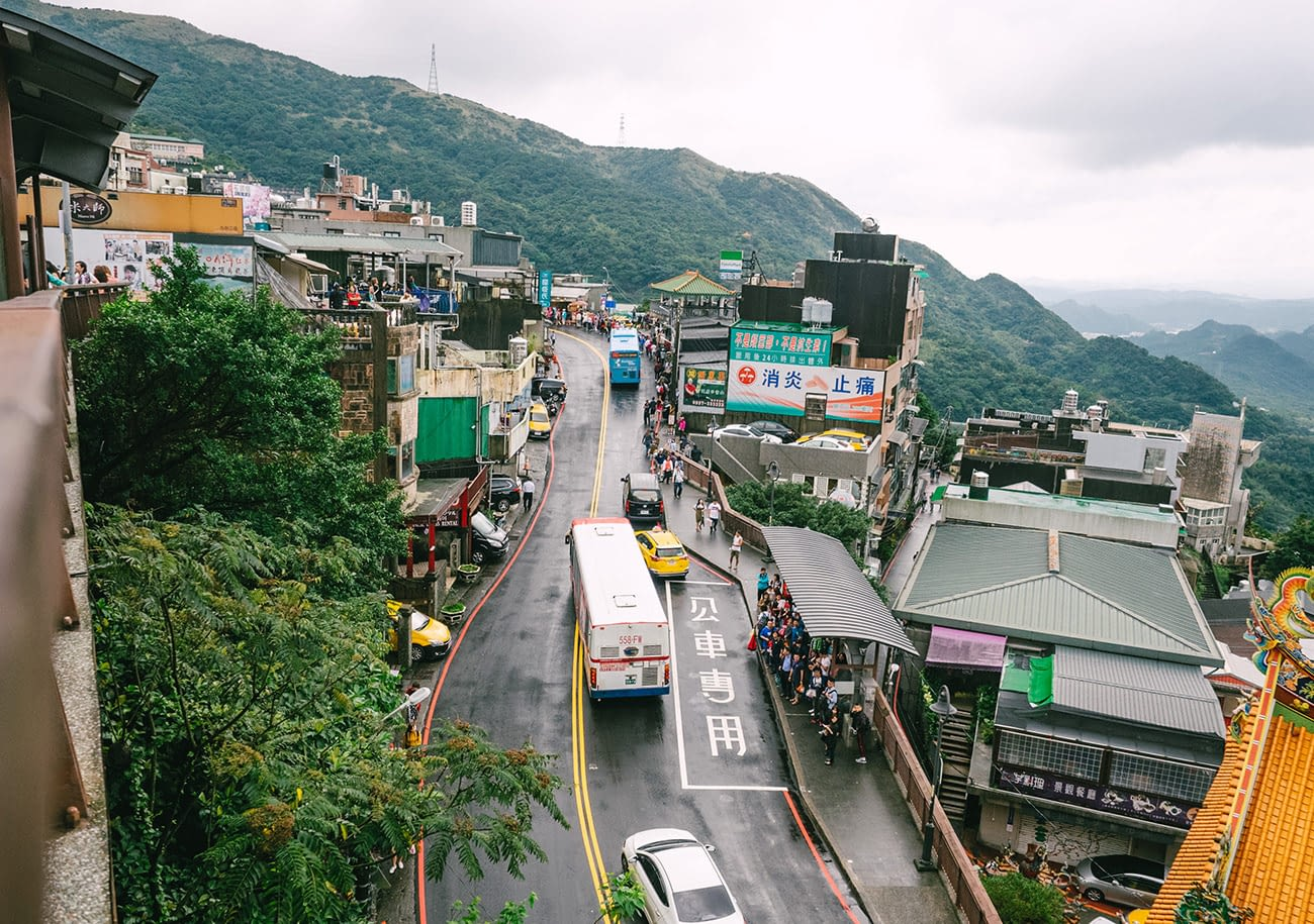 Taipei Jiufen - bird eye view