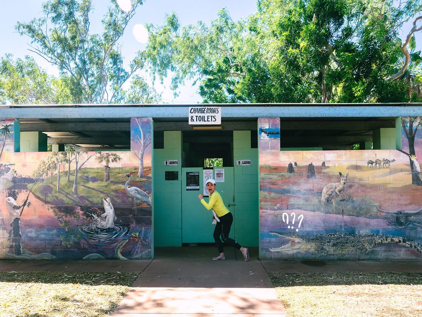 NT Australia - Mataranka - Elsey National Park toilet