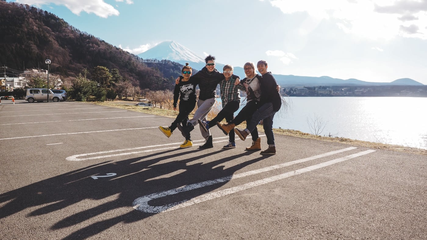 Japan - Mount Fuji - Put your legs to the left