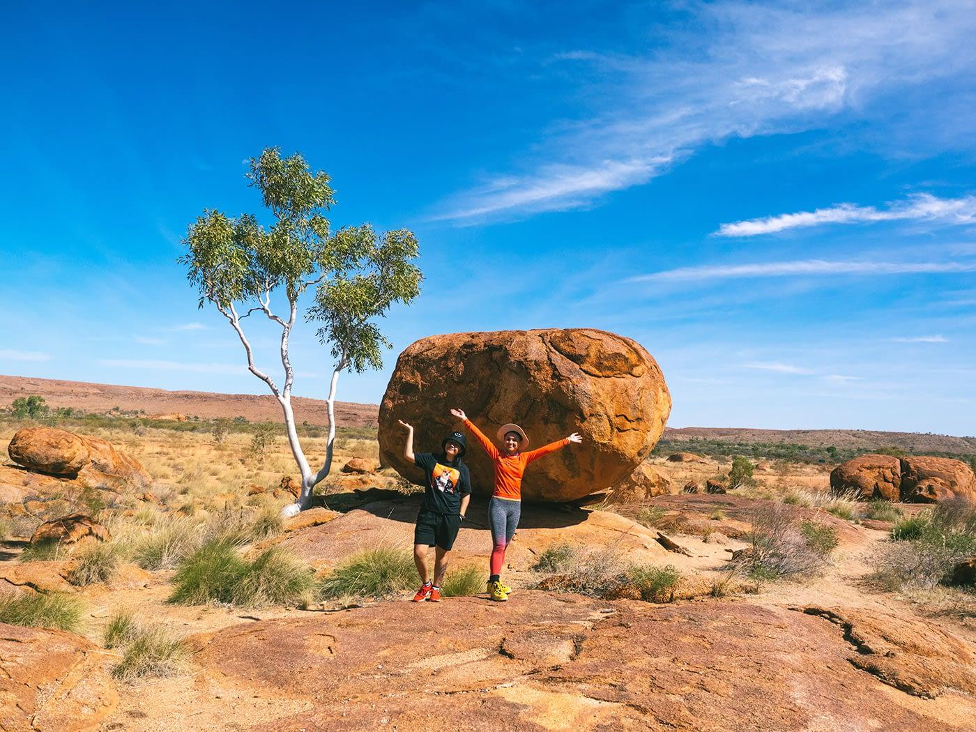 NT Australia - Karlu Karlu - Just the 2 of us exploring the rest of Devils Marbles
