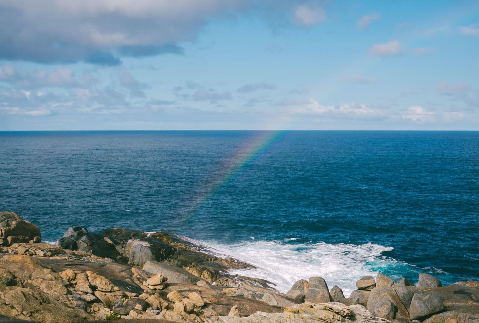 Albany, Australia - Rainbow at The Blow Hole