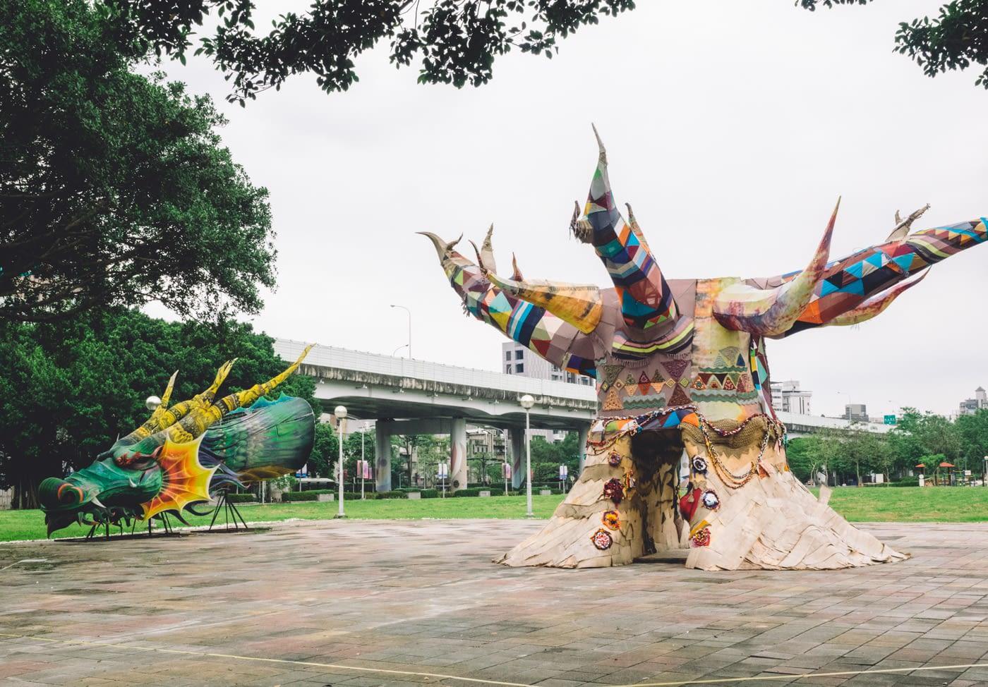 Taiwan - Huashan 1914 Creative Park - Outside sculpture