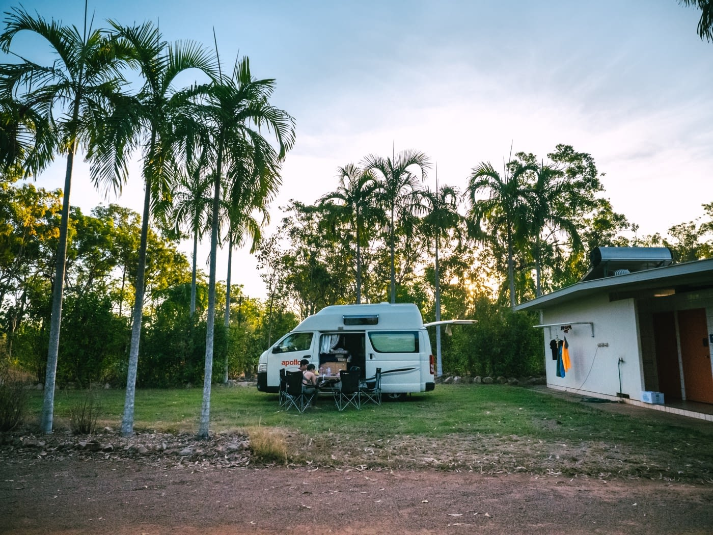 Spacious powered site at Batchelor Holiday Park