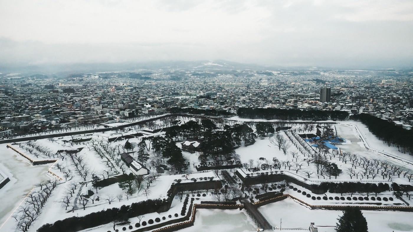 Star shaped view from Goryokaku Tower