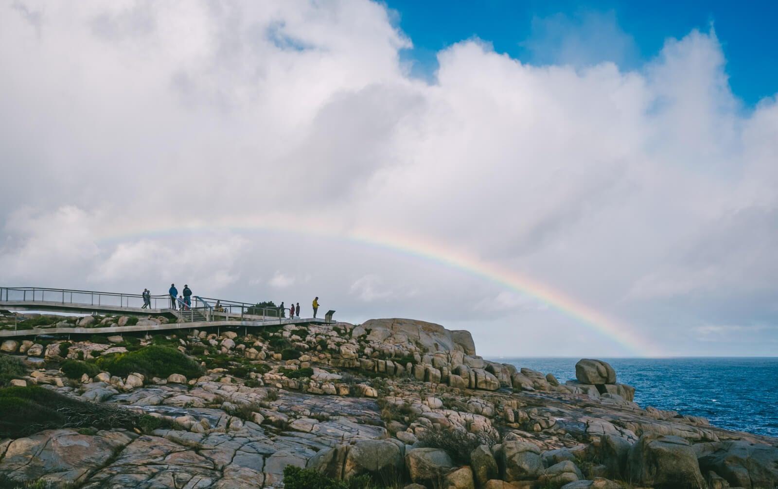 Albany, Australia - Huge rainbow at The Gap and Natural Bridge